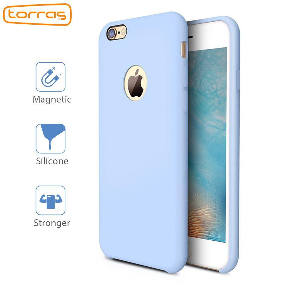 Torras жидкости силиконовый чехол для iPhone 6 6S плюс чехол телефона Магнитная для Apple iPhone 7 7 плюс микрофибры Подушки телефонные чехлы