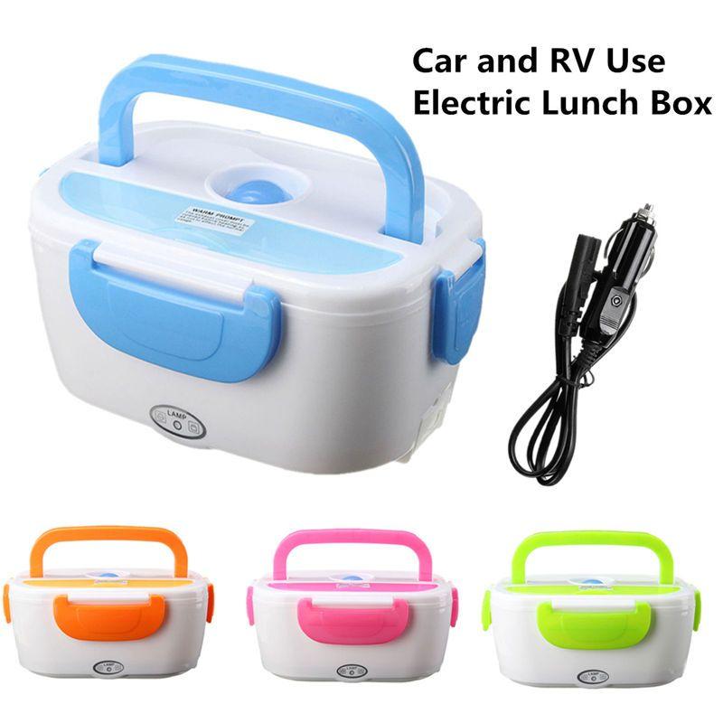 Portable Électrique 12 V Chauffée boîte à déjeuner boîtes bento Auto Voiture Alimentaire Récipient À Riz Chaud Pour L'école Home Office De Vaisselle