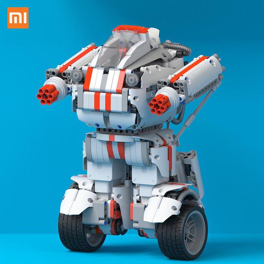 Meilleur Cadeau Xiaomi Robot Building Block Robot Bluetooth Mobile Télécommande 978 Pièces De Rechange Auto-équilibre Système Module Programme