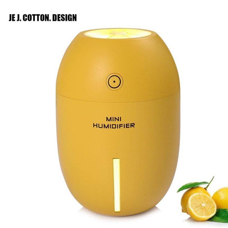 Humidificateur D'air ultrasonique Mist Maker Fogger USB Mini pour La Maison 180 ml Purificateur D'air Désodorisant De Voiture Humidificateurs avec Led Lumière