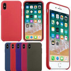 GETIHU Cas Ont logo Original Étui En Silicone Pour iPhone 6 6 s Plus pour Apple Cas de Téléphone Pour iPhone X 7 8 Plus Coque Couverture cas