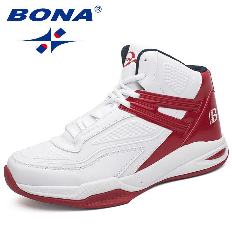 BONA Neue Ankunft Populäre Art Männer Basketball-schuhe Outdoor Jogging Turnschuhe Schnüren Männer Sportschuhe Licht Weich Kostenloser Versand