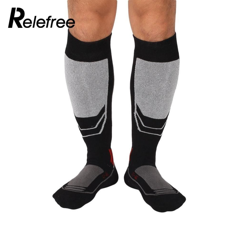 1 pair Men's Long Cotton Winter Long Thick Thermal Snow Ski Hiking Mountaineering Outdoor Sport Socks Knee Knee High Stockings