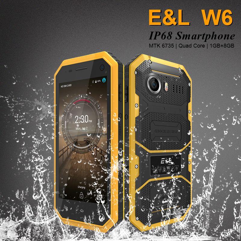 Original E&L W6 Smartphone Waterproof Dustproof Shockproof Phone Ip68 Dual Sim Mobile Phone Android 4G Lte Unlocked Cell Phones
