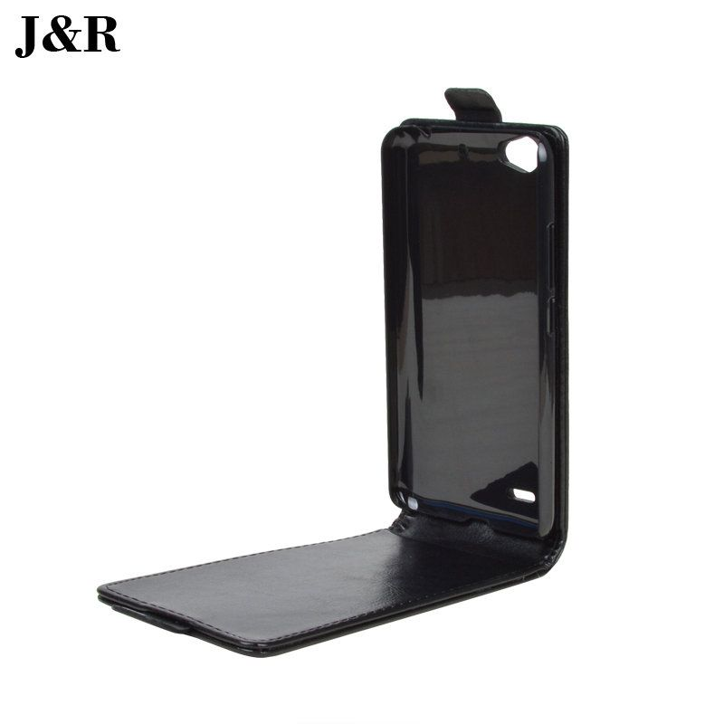 For ZTE Blade L4 T610 Case JR Brand High Quality PU Leather Bag For ZTE L4 A460 Cover Skin Flip Vertical Phone Cases
