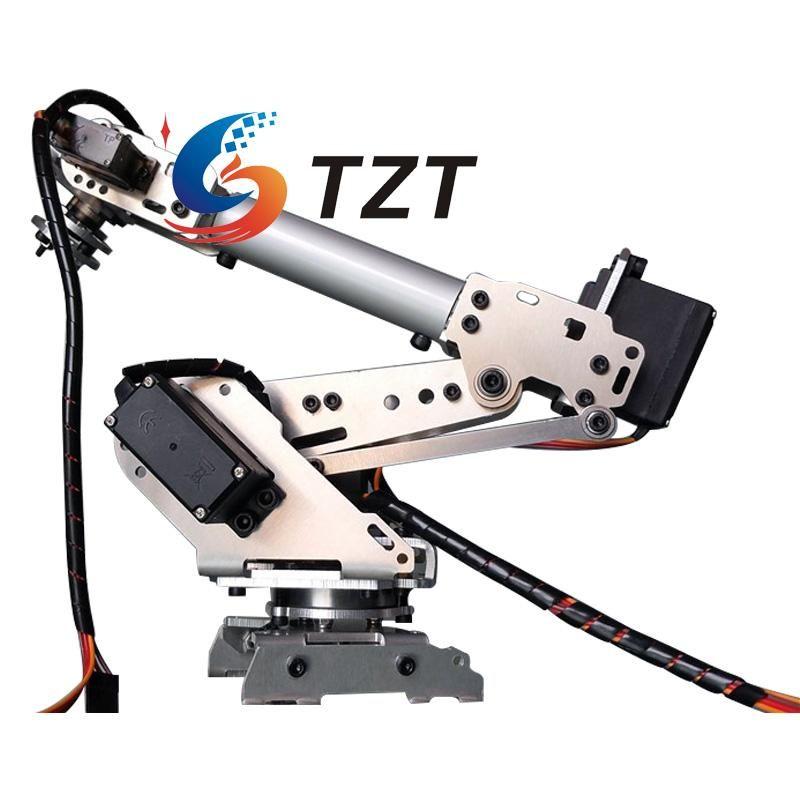 2018 NEUE RoboSoul Aluminum S6 6DOF 6 Achsen Roboterarm ABB Modell Manipulator mit 4 STÜCKE MG996R und 2 STÜCKE MG90S