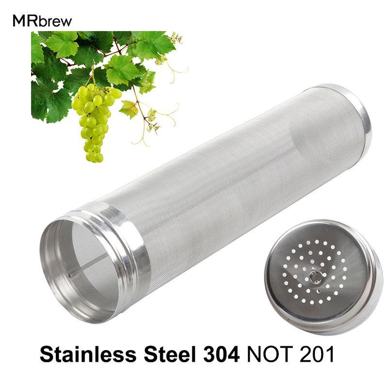 300 Microns en acier Inoxydable Baril Trémie Sèche Filtre en espérant Home Brew 30 cm x 7 cm