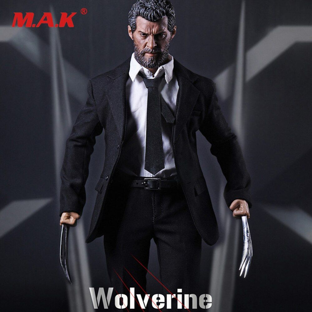 Full Set X-men Wolverine Logan Action Figure 1/6 Scale Black Suit &Head & Body With Wolf Claws Figures Doll Collections