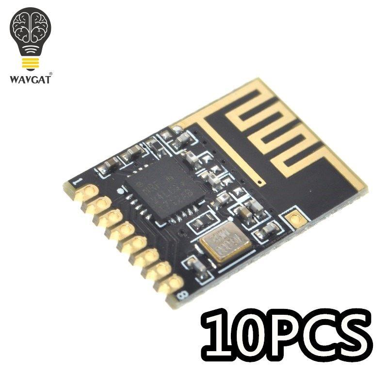WAVGAT 10 PCS Komponente Kit NRF24l01 + 2,4 GHz Wireless Modul Mini Version Power verbesserte version SMD