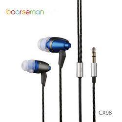 100% Asli Boarseman CX98 Di Telinga Earphone 3.5 Mm HI FI In-Ear Headset Dinamis Earbud untuk Ponsel Komputer Umum Digunakan