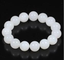 Hetian jade blanc jade route lien bracelet.