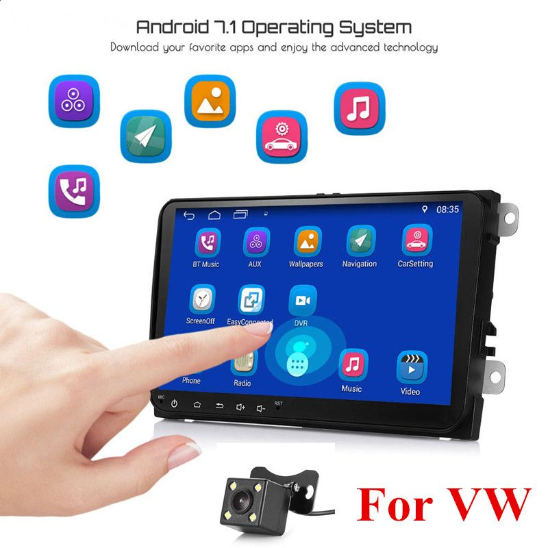 Universal 9-inch HD Car Multimedia Player Android 7.1 Bluetooth 4.0 GPS for VW with Navigation Bluetooth Wifi Car Stereo Player