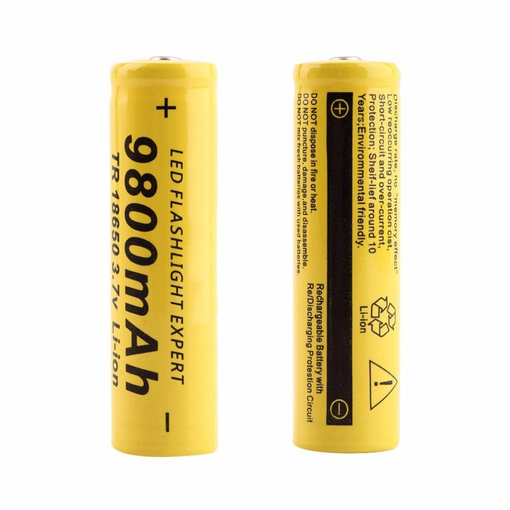 3Pcs/ 5Pcs/ 10 Pcs 3.7V 18650 1000mAh Large Capacity Li-ion Rechargeable Battery for Flashlight Torch Wholesale