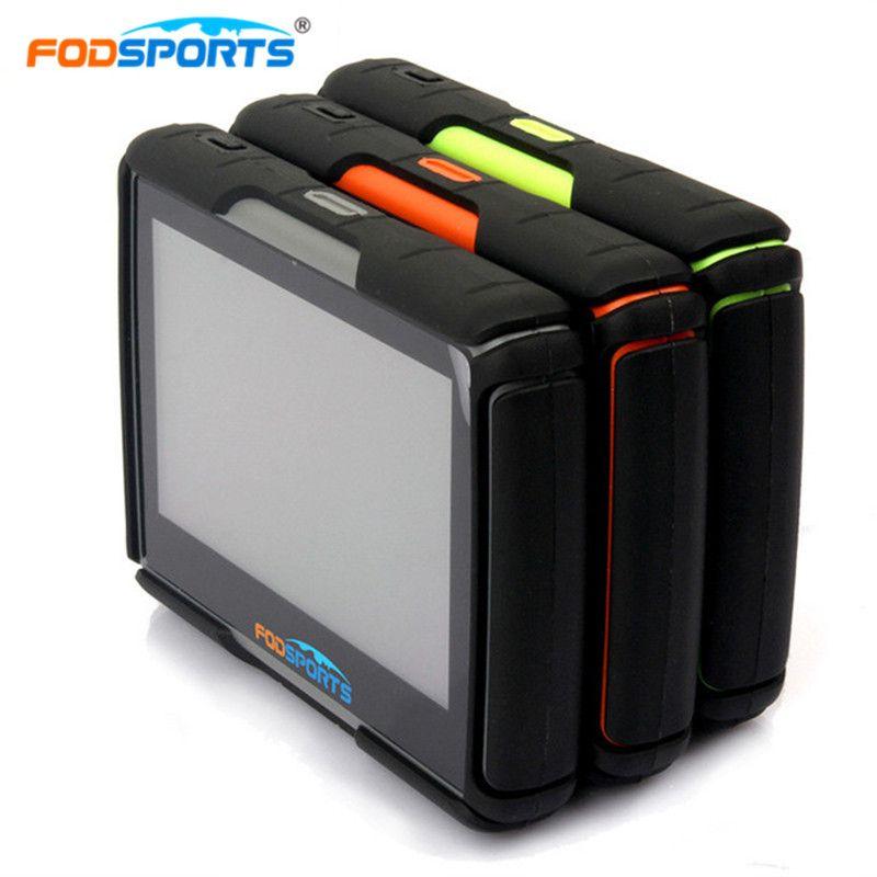 Fodsports GPS Moto Navigation Moto navigateur 4.3 pouces 256 mo 8GB IPX7 étanche Bluetooth voiture Tracker mise à jour gratuite cartes