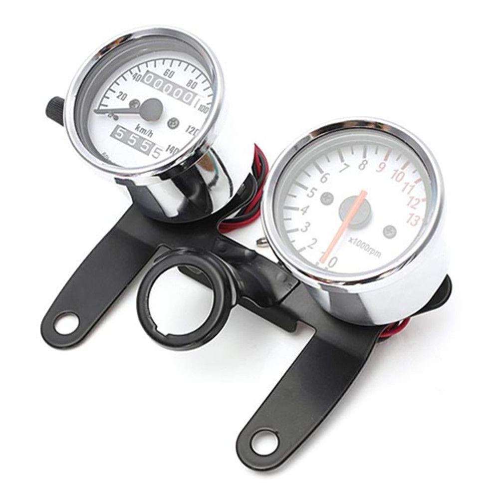 Motorcycle Odometer Tachometer Speedometer Gauge with Black Bracket/Motorcycle speedometer hot selling