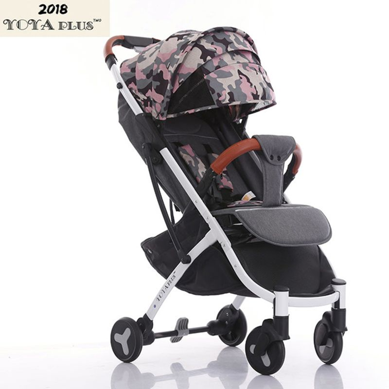 2018 YOYAPLUS baby stroller light <font><b>folding</b></font> umbrella car can sit can lie ultra-light portable on the airplane