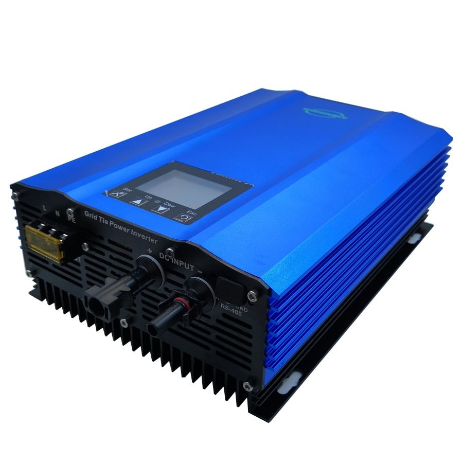 1000 watt grid tie inverter Farbe display DC zu AC High efficiency arbeit für PV batterie entladung reine sinus welle home solar System