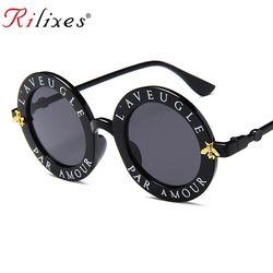 RILIXES новые круглые солнцезащитные очки в стиле ретро Для женщин Брендовая Дизайнерская обувь Винтаж градиентные оттенки солнцезащитные оч...