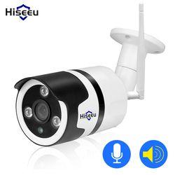 Hiseeu Wi-Fi Открытый IP камеры 1080 P 720 P водонепроницаемый 2.0MP беспроводной камеры безопасности Металл с подкладкой аудио запись на карту tf P2P пуля
