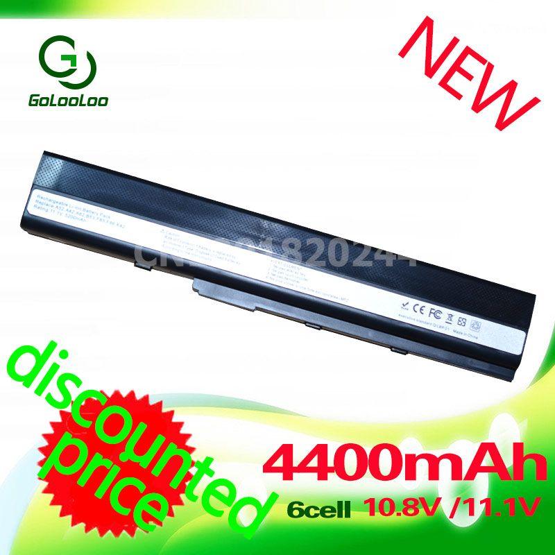 Golooloo 4400 mah 11.1 v Batterie A32-K52 pour Asus A41-K52 A42-K52 K52F X52J A52J A52F K52D K52DR K52J K52JC K52JE k52N 10.8 v/11.1 v