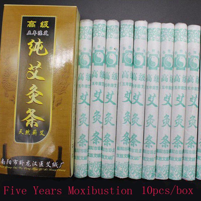 10pcs/box Five Years Moxibustion set Chinese old Moxa Stick tube Moxa-wool moxibustion Health care improve immunity Relaxation