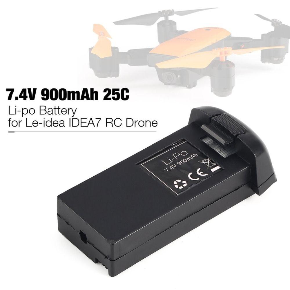 7,4 V 900 mAh 25C 2 S Li-po Akku Ersatzteile Zubehör für Le-idee IDEA7 RC Drone Quadcopter Aircraft UAV