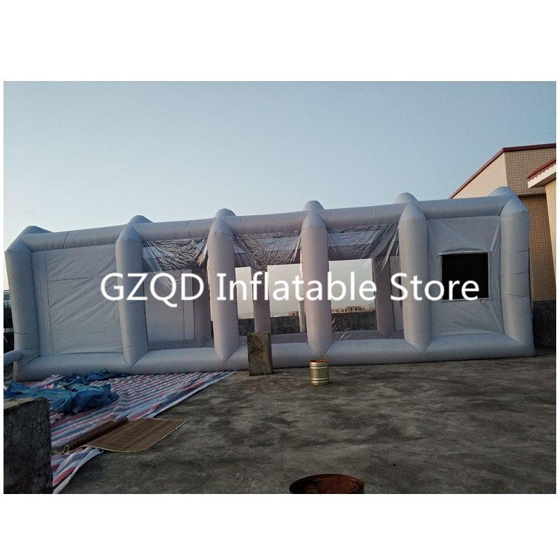 39x16x13Ft Tragbare aufblasbare spray booth aufblasbare lackierkabine aufblasbare auto malerei booth für verkauf