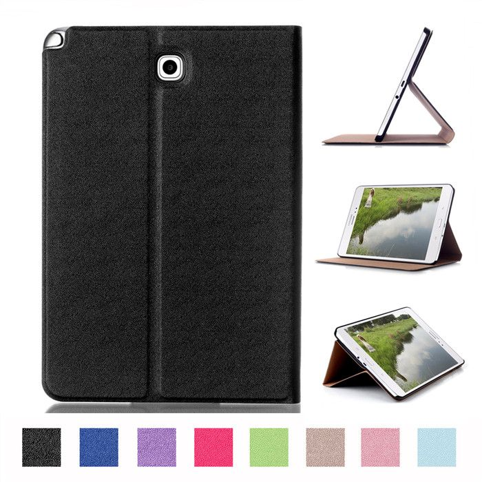 100Pcs PU Stand Cover Case for Samsung Galaxy Tab A 8.0 T350 T351 T355 8