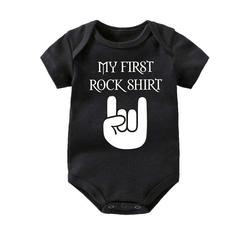 Culbutomind bébé manches courtes coton bébé Body mignon bébé garçon vêtements combinaison bébé tenue bébé Body Rock 0-12 mois