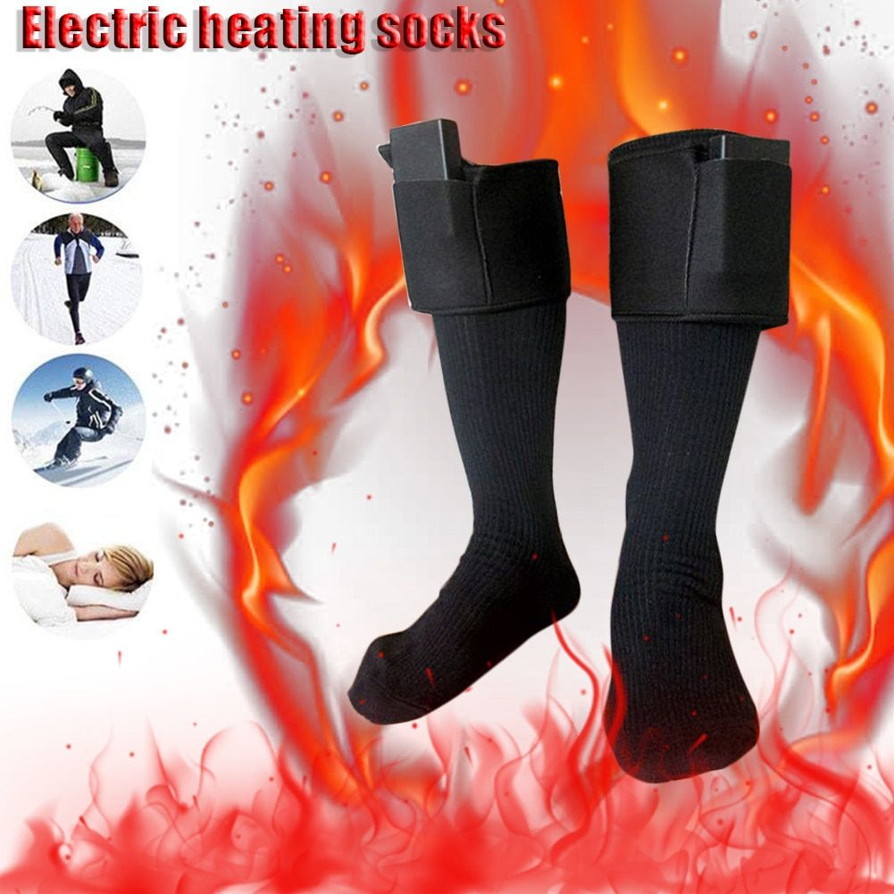 Outdoor Cold Weather Electric Heated Socks For Women and Men Snowboard Skiing 3V Battery Feet Warmer Heater Fishing Sport Socks