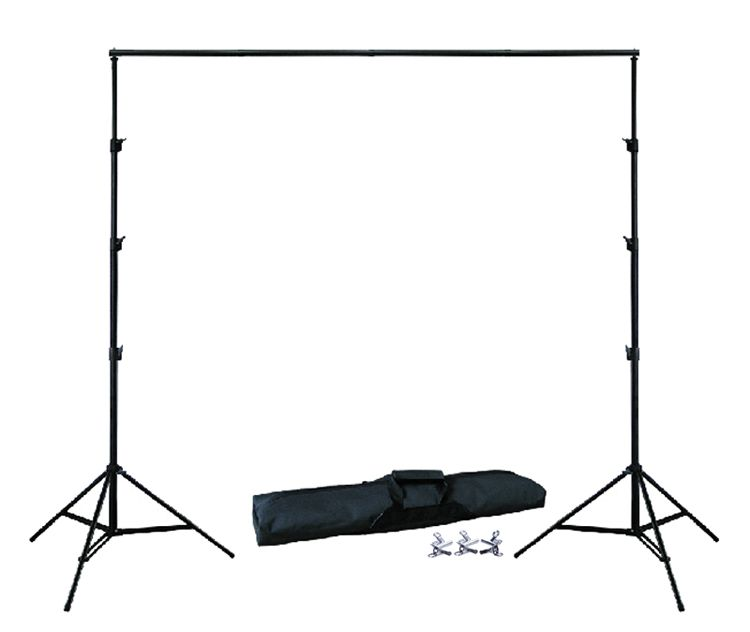 BACKGROUND HOLDER 10Ft X 6.5Ft 3M X 2M Adjustable Muslin Background Backdrop Support Stand Kit Carrying Bag 4PCS Clamps