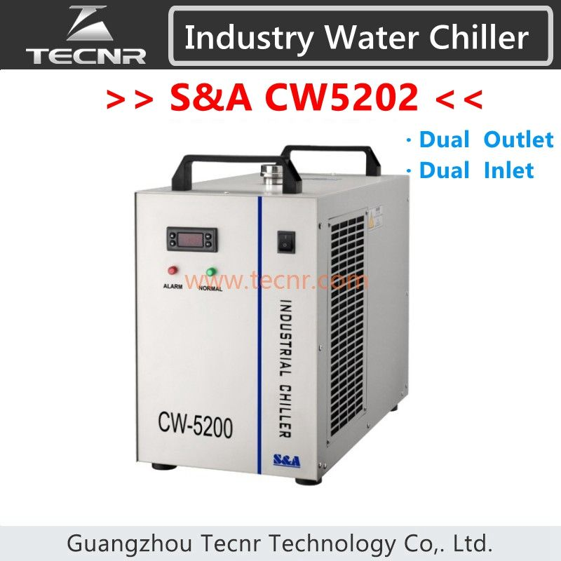 S&A CW5202 water chiller dual inlet dual outlet for laser machine cooling laser tube device CW5202AH