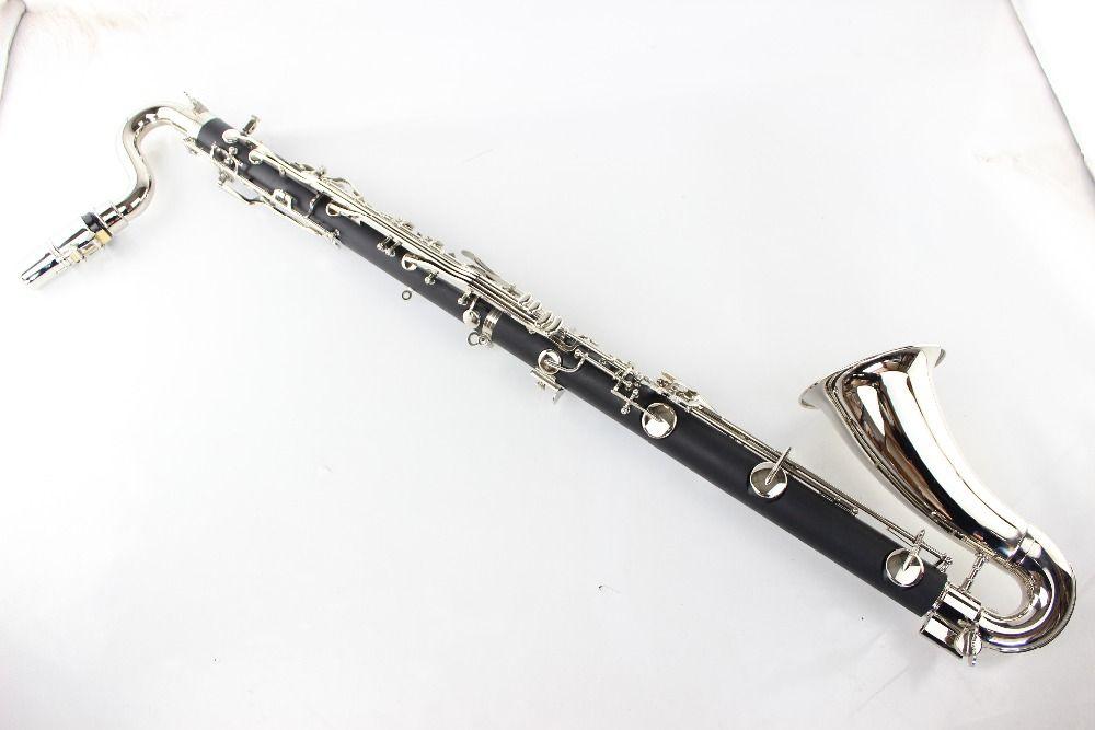 Black Bass Clarinet Professional Bb Clarinet Drop B Tuning Bakelite Bass Clarinet Silvering Key