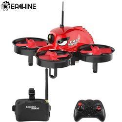 Eachine E013 Micro FPV RC Quadcopter Balap dengan 5.8G 1000TVL 40CH Kamera VR006 VR-006 3 Inch Kacamata VR Headset helikopter Mainan