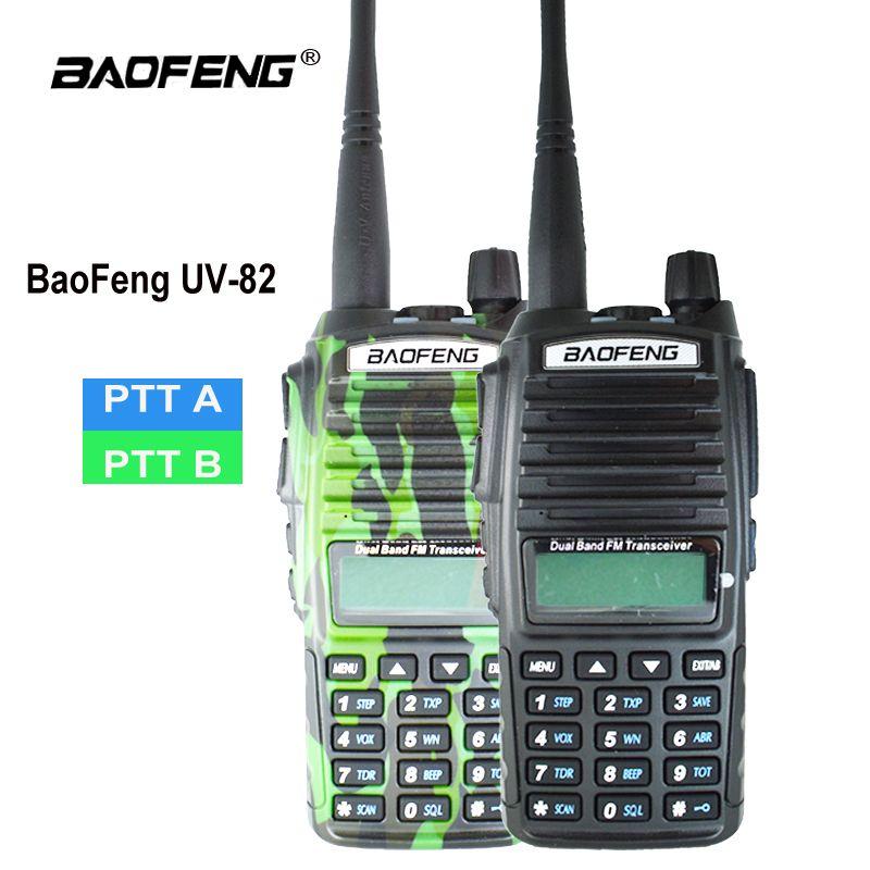 Original Baofeng UV-82 Talkie Walkie UV 82 Portable Two way Radio Double PTT Ham CB Station de Radio VHF UHF UV82 chasse Émetteur-Récepteur