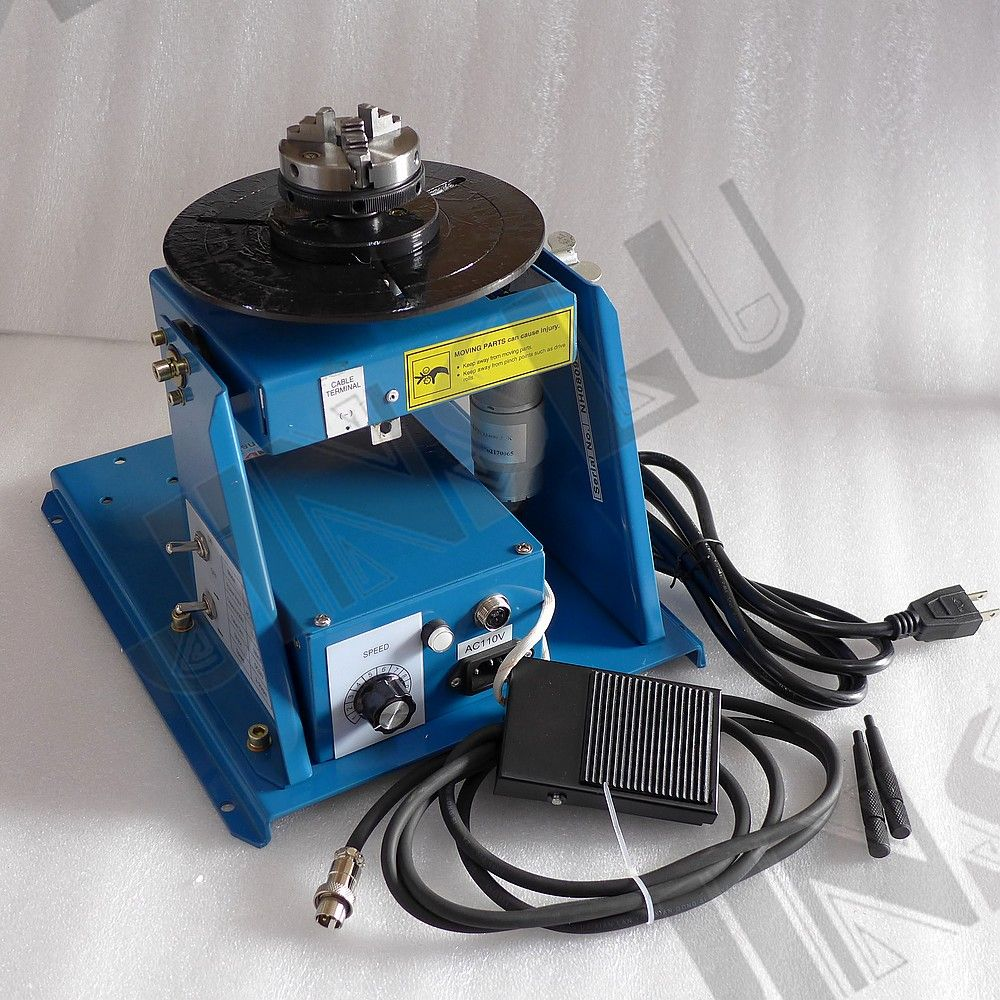 Video Inside 110V BY-10 welding positioner turntable with 3 jaw lathe Chuck Cartridge K01-63 M14 1 Set JINSLU