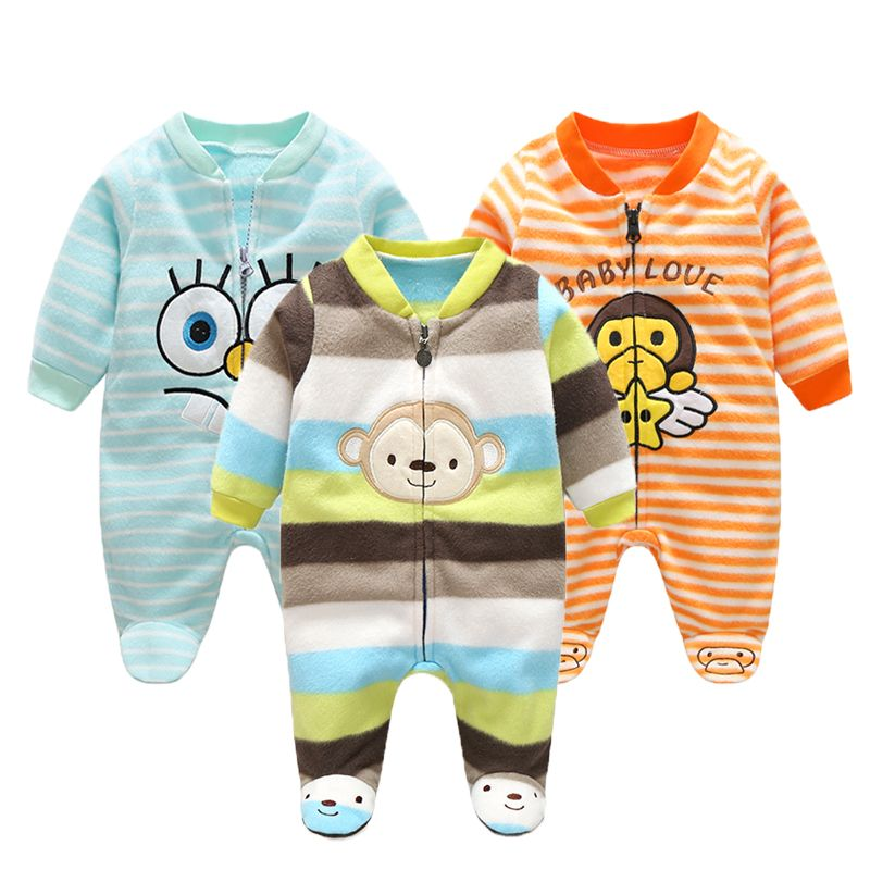 Autumn Baby Rompers Christmas Baby Boy Clothes Newborn Clothing Polar Fleece Baby Girl Clothes Roupas Bebe Infant Baby Jumpsuits
