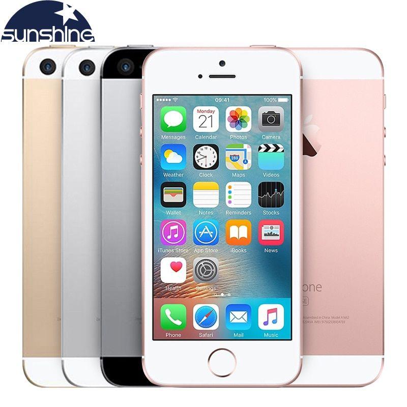 Débloqué Original Apple iPhone SE 4g LTE Mobile Téléphone iOS Tactile ID Puce A9 Dual Core 2g RAM 16/64 gb ROM 4.0