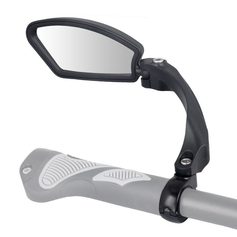 Unbreakable Stainless Steel Lens 1PC Bicycle Mirror Clear Wide Range Back Sight Left Right Reflector Angle Adjustable Hafny