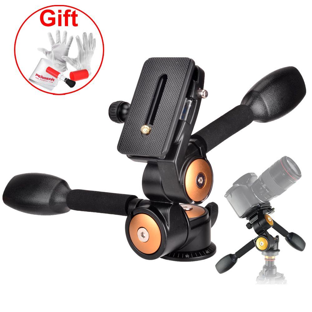 Нагрузка 20 кг Камера штатив монопод шаровой головкой 3-способ Panhead для DSLR Камера VCR и телеобъектив Штатив монопод головы