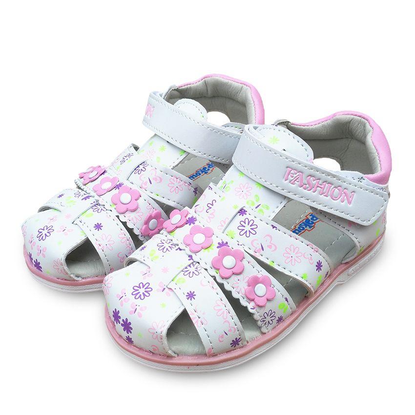 El NUEVO Encanto 1 pair Verano Muchacha de Los Niños Sandalias de la flor Sandalias Del Bebé Zapatos, Calidad Estupenda Niños Zapatos Suaves