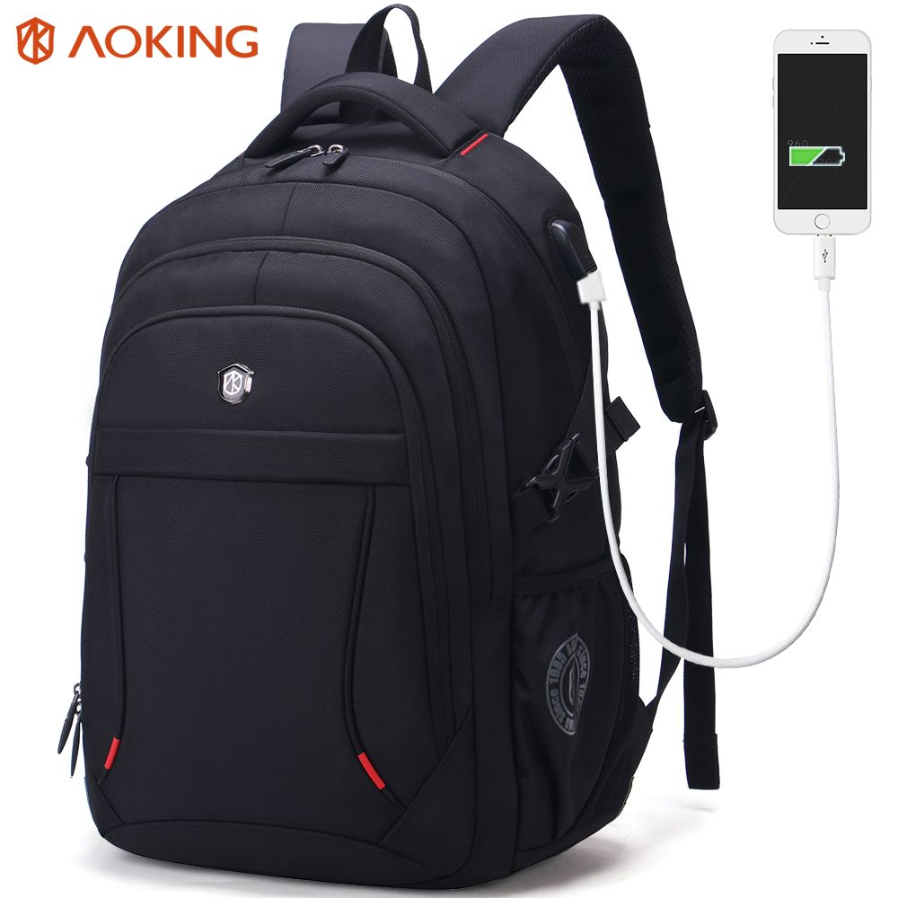 Aoking Brand Classic Business Men's Backpack Large Capacity Casual Students Laptop Backpack Anti-theft Waterproof Mochila