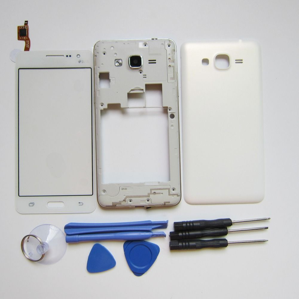 Replacement Parts For Samsung Galaxy Grand Prime G531 G531H Full Housing Case Set Middle Frame+Back Cover+Touch screen+Tools