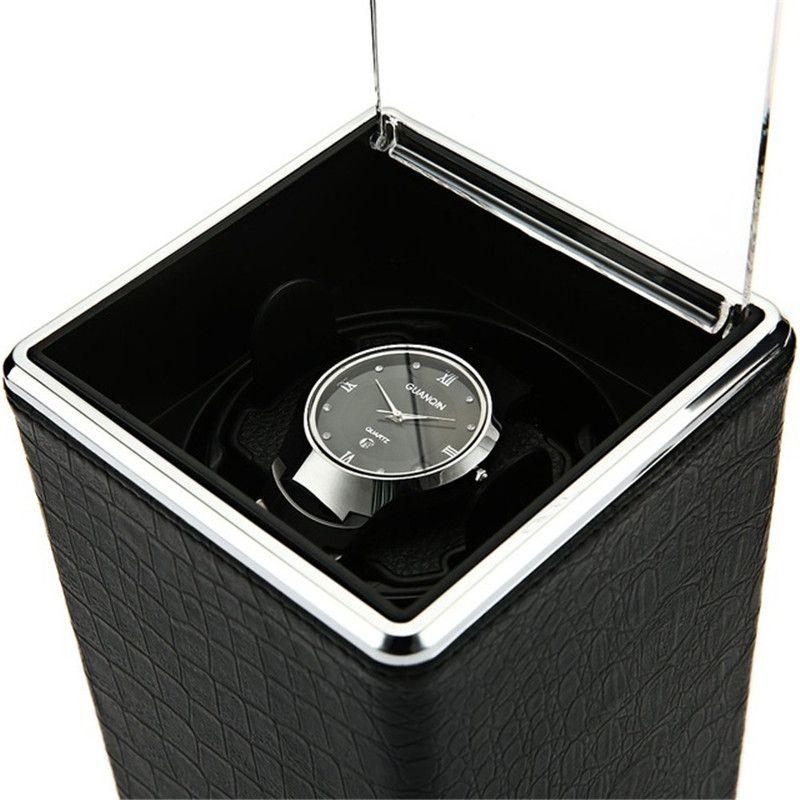 Automatic Rotation Watch Box Winder Display Boxes Transparent Cover Jewelry Storage Organizer US Plug Caixa De Relogios