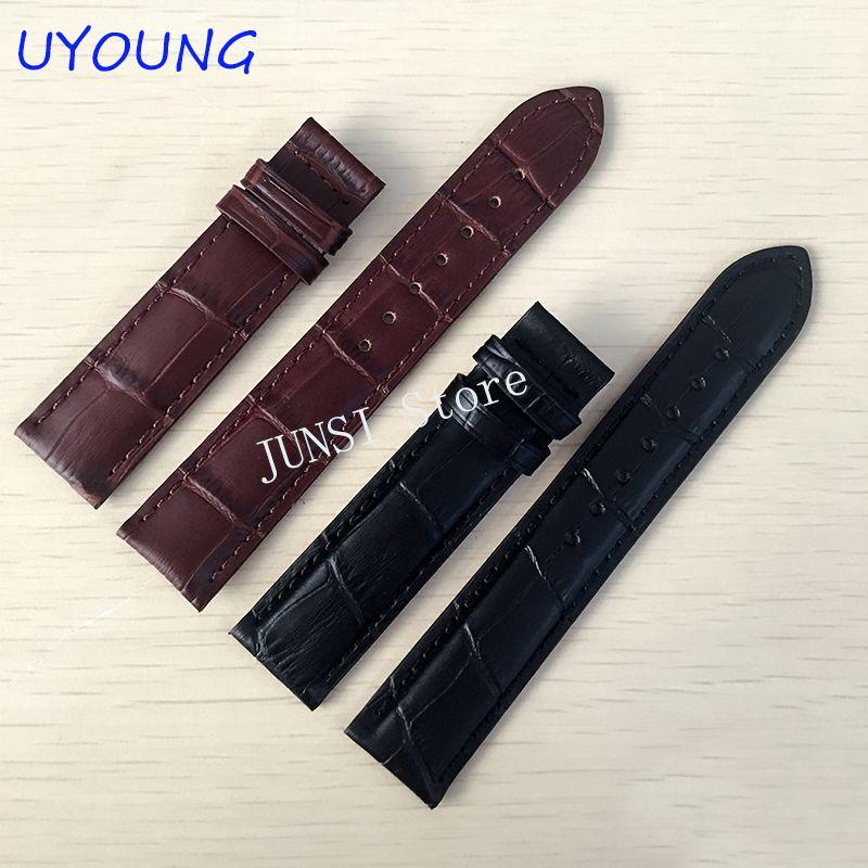 Bracelet de montre en cuir véritable 19*18mm pour tissot T17 | T461 | T041 \ T041 Bracelet de montre noir accessoires de montre pour Bracelet PRC200