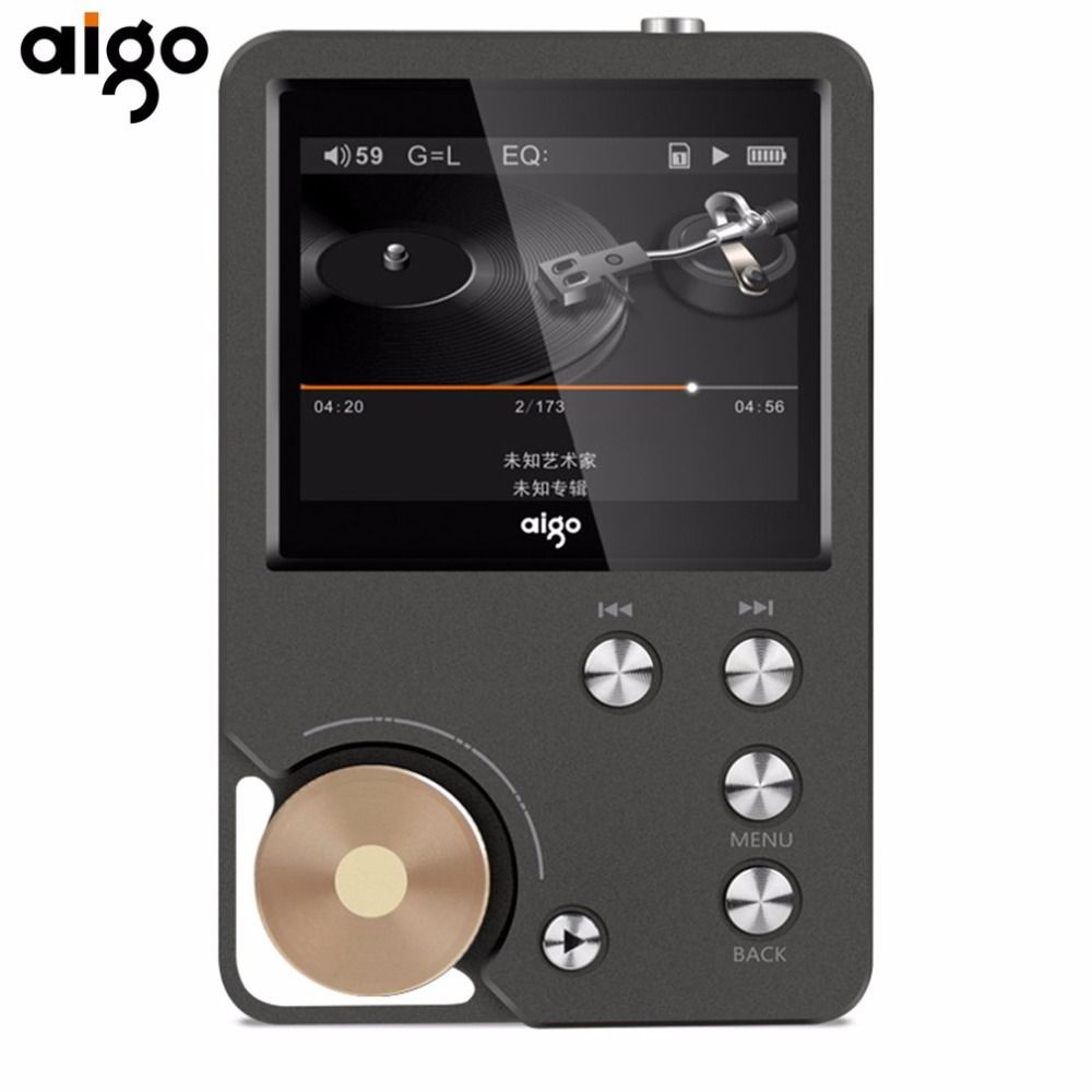 Aigo Portable Hifi Music Player Lossless Music 8GB memory With 2.0 Inch TFT Screen Display Dual Channel Output Audio MP3 Player