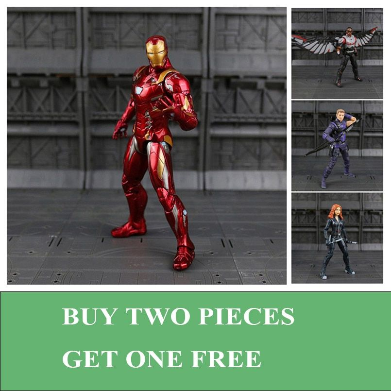 Iron Man Captain America Black Panther Winter Soldier Ant-Man Falcon Scarlet Witch Vision Hawkeye Action Figure Model Toys N033