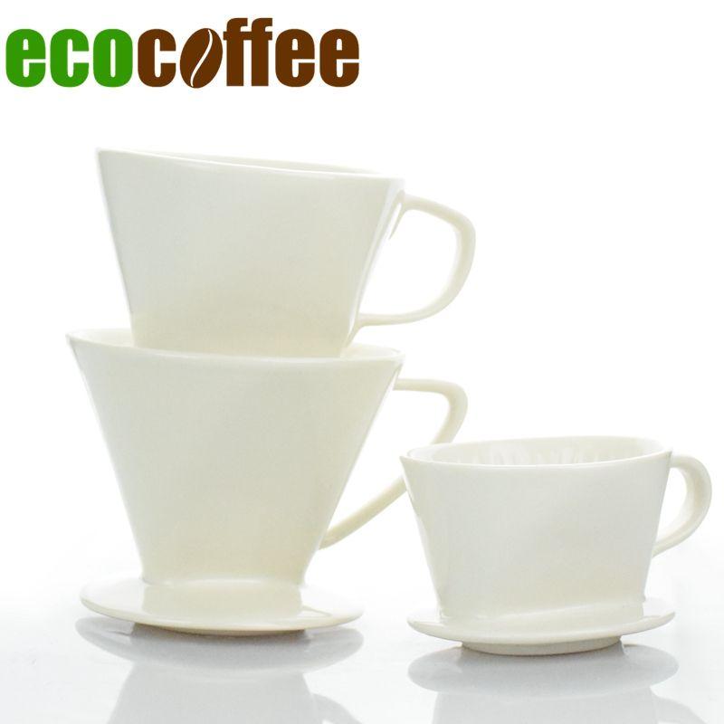 1 pc Livraison Gratuite Espresso V60 Café Goutteur En Céramique V60 Goutteur 101 102 103