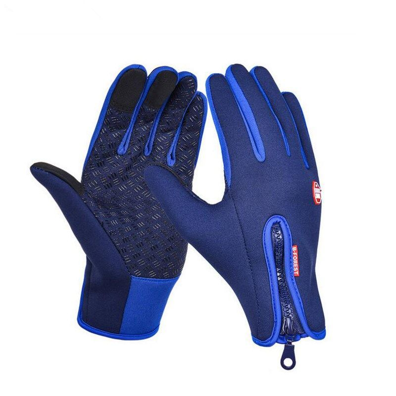 Warm Windproof Waterproof Touched Screen Glove Mittens Fleece Outdoor Skiing Riding Running Sports Gloves High Quality