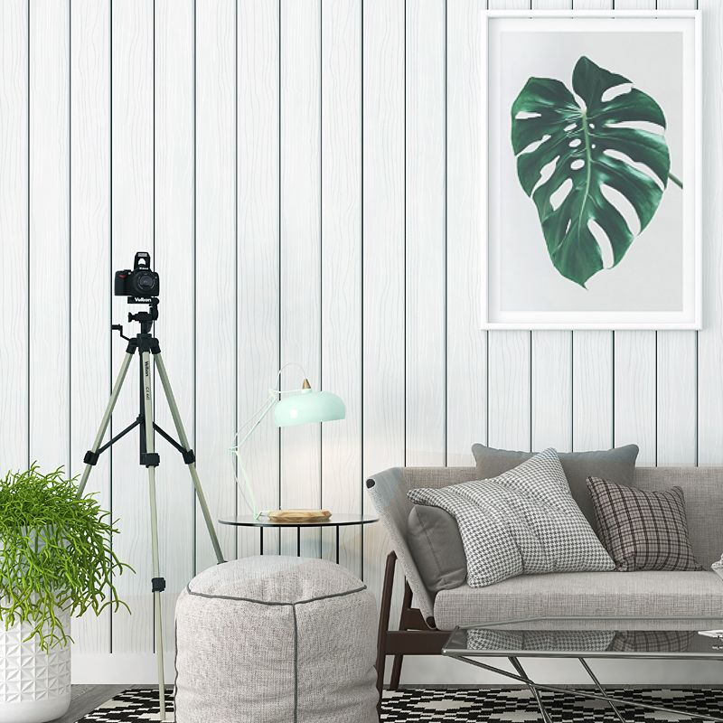 Modern High-grade Gray Wood Pattern Wallpaper Nordic Living Room TV Background Wall Paper Wood Papel De Parede